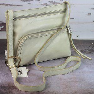 HOBO CASSIE Leather Crossbody Bag Magnolia White